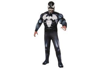 Venom Deluxe Muscle Chest Spider-Man Marvel Superhero Mens Costume
