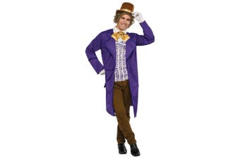 Willy Wonka And the Chocolate Factory Deluxe Book Week Adult Mens Costume STD