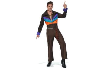 That 70s Guy 1970s Hippie Hippy Disco Fever Retro Adult Mens Costume & Chain STD