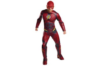 The Flash Deluxe Muscle Chest Justice League Superhero Mens Costume