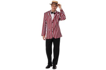 Good Time Sam 1920s Jolly Barbershop Henley Boater Club Blazer Mens Costume