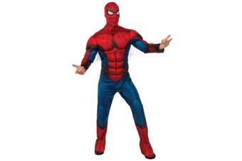 Spider-Man Spiderman Deluxe Muscle Chest Marvel Superhero Mens Costume