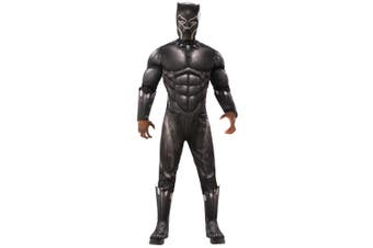 Black Panther Movie Deluxe Muscle Chest Marvel Superhero Mens Costume