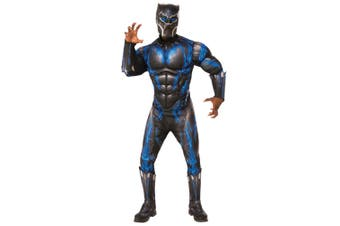 Black Panther Battle Suit Deluxe Muscle Chest Marvel Superhero Mens Costume