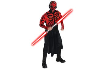 Darth Maul Star Wars Deluxe Muscle Chest Villains Men Costume