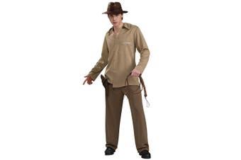 Indiana Jones Classic Movie Archaeologist Adventures Licensed Mens Costume