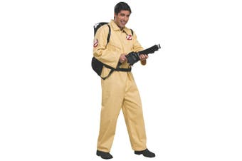 Ghostbuster Deluxe Ghost Busters Movie Cartoon Mens Costume & Proton Backpack