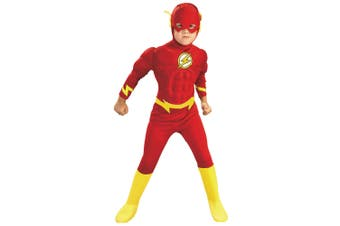 The Flash Deluxe Muscle Chest DC Comics Con Superhero Toddler Boys Costume 2-4
