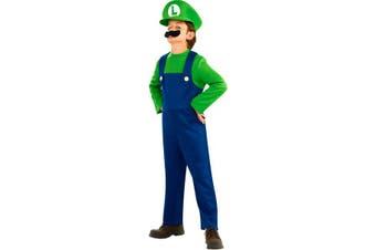Super Mario Luigi Licensed Cartoon Boys Toddler Costume 2-4