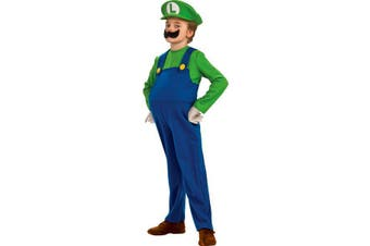 Super Mario Deluxe Luigi Boys Dress Up Toddler Costume 2-4