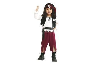Pirate Captain Cutthroat Swashbuckler Carribean Buccaneer Toddler Boys Costume T
