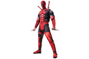 Deadpool Deluxe Muscle Chest Marvel Comic Superhero Teen Mens Costume