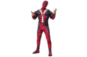 Deadpool Marvel Wade Wilson Deluxe Muscle Chest Superhero Teen Mens Costume