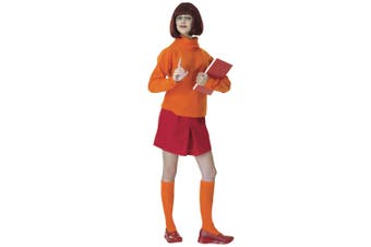 Velma Dinkley Scooby-Doo Scooby Doo Cartoon Licensed Womens Costume & Wig STD