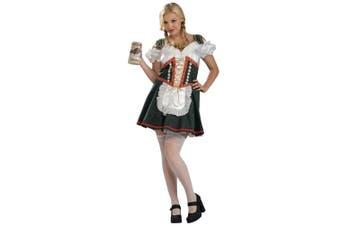 Beer Maid Garden Girl Oktoberfest German Bavarian Women Costume Plus