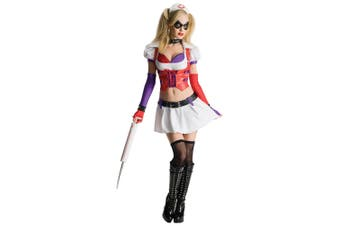 Harley Quinn Harlequin Nurse Supervillain Batman Arkham Asylum Womens Costume