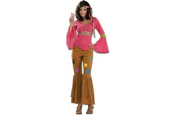 Woodstock Honey Hippie 60 70s Hippy Women Costume