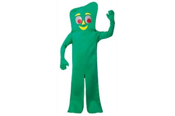 Gumby Deluxe American Green Clay TV Movie Adult Womens Mens Costume OS