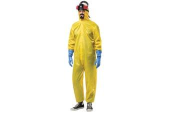 Breaking Bad Hazmat Haz-Mat Suit Hazard Chemical Adult Mens Costume Plus 3XL