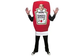 Heinz Ketchup Squeeze Bottle Tomato Sauce Deluxe Adult Womens Mens Costume