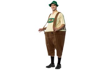 Lederhosen Bavarian German Beer Oktoberfest Hoopster Funny Adult Mens Costume