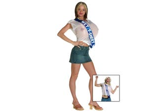 Wet T-Shirt Winner Contest Miss Stag Do Comical Mens Womens Costume 6-12