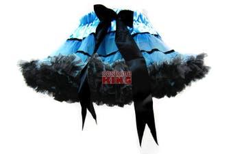 Girls Blue Black Striped Dance Party Pettiskirt Tutu