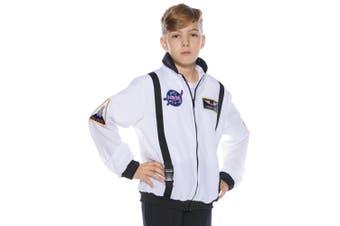 Astronaut NASA Spaceman Space White Uniform Book Week Boys Costume Jacket