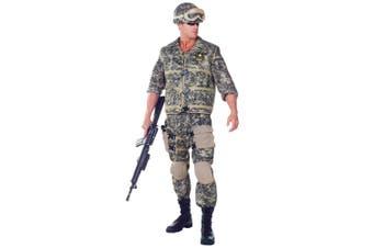 US Army Ranger Deluxe Soldier Military Uniform Navy Combat Men Costume Plus XXL