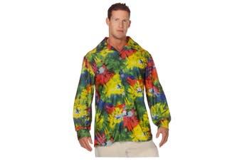 60's Tie Dye 1960s 1970s Hippie Retro Groovy Mens Costume Long Sleeves Shirt