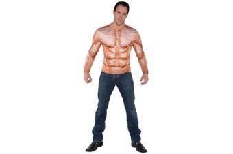 Muscle Padded Photo Real Shirt Baywatch Bodybuilder Lifeguard Sport Men Costume