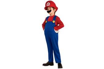 Super Mario Deluxe Bros Video Game Plumber 1980s Cartoon Boys Costume