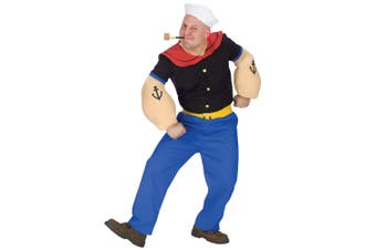 Popeye Sailor Man Comic Cartoon 1920s 1930s Humourous Dress Up Men Costume