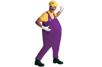 Wario Deluxe Super Mario Bros Antagonist Nintendo 1980s Games Men Costume