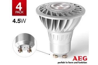 4 x AEG LED 4.5W GU10 globe bulb = 20W Halogen 200lm 30000 hours
