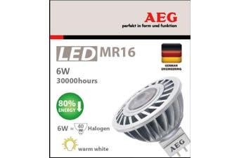 4 x AEG LED 6W MR16 globe bulb = 50W Halogen 450lm 30000 hours