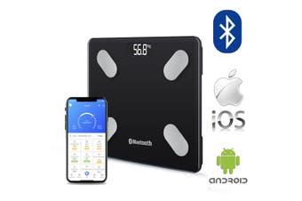Wireless Digital Bathroom Body Fat Scale 180KG Bluetooth Scales Weight BMI Water black