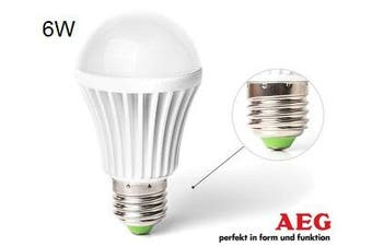 AEG LED Screw E27 Warm White 6w 50W Light Globe/Lightbulb Lamp Bulb 650 Lumen