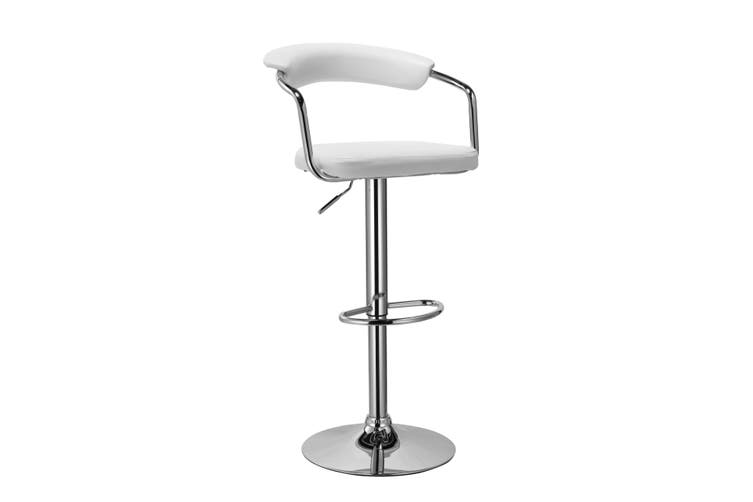 Comfort PU PVC Leather Bar Stool Kitchen Chair White