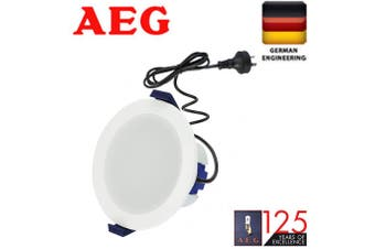 AEG LED Downlight Kit 10W 3000K warm white with plug and flex