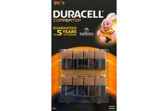 Duracell duralock 9V Alkaline Batteries 8 Pack