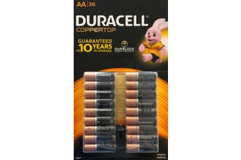 Duracell duralock Alkaline Batteries AA 36 pack