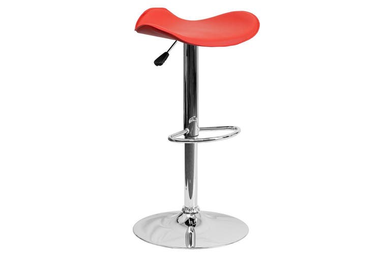 Fiesta PU PVC Leather Bar Stool Kitchen Chair Red