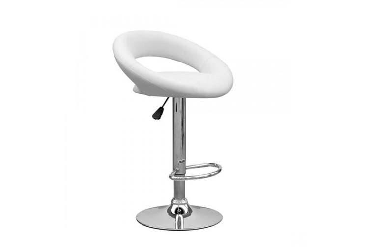 Jolly PU PVC Leather Bar Stool Kitchen Chair White