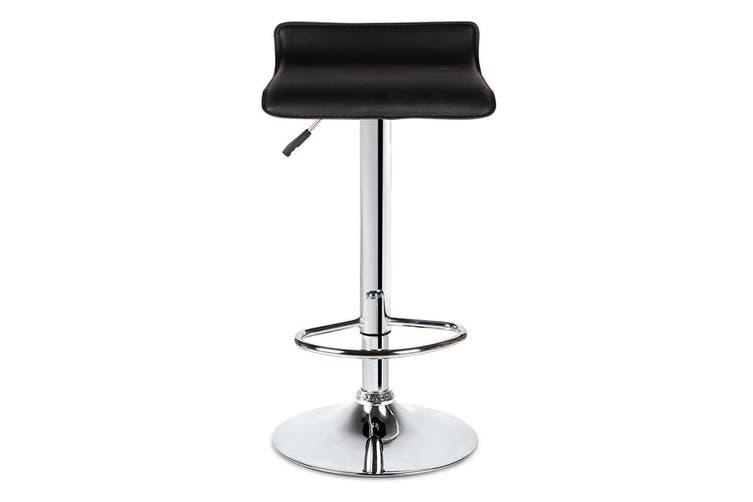 Sense PU PVC Leather Bar Stool Kitchen Chair Black