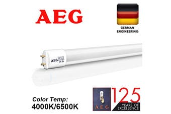 10X AEG LED T8 glass tube fluorescent Light 18W 120cm 4ft 6500K Daylight White FROST