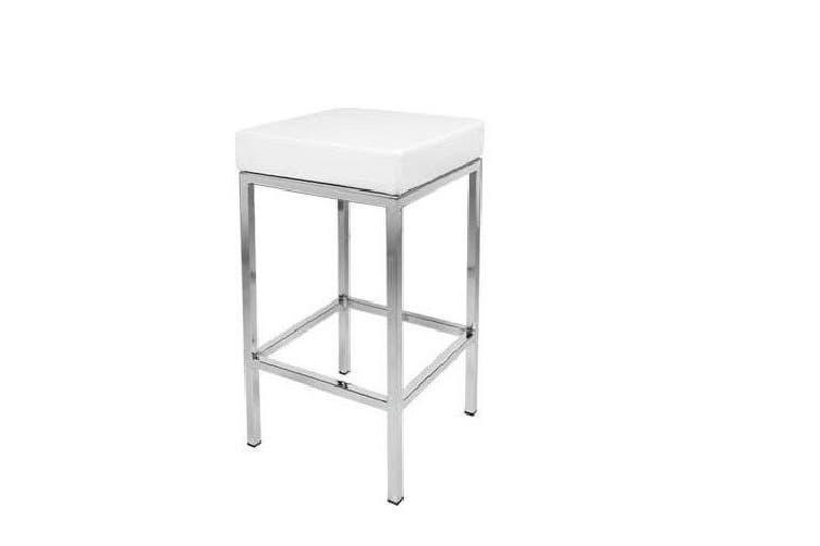 Viena PU PVC Leather Bar Stool Kitchen Chair White