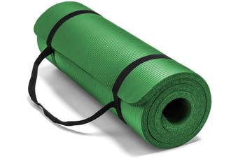 15MM Thick Yoga Mat Non Slip Durable Exercise Fitness Gym Mat Lose Weight Pad green