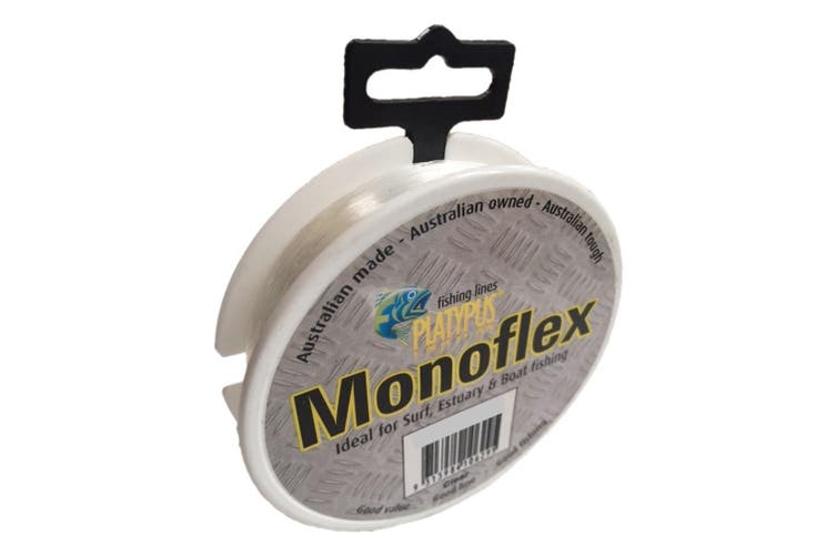 100m Spool of 12lb Clear Platypus Monoflex Mono Fishing Line - Australian Made Line
