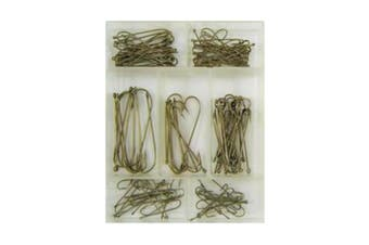 Surecatch 140 Piece Assorted Carlisle Fishing Hook Pack in Tackle Box